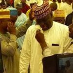 Ex-Lawmaker Cries As He Decamps From PDP To APC, Begs For Forgiveness (Photo)