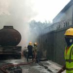 Fire razes Access Bank branch in Lagos
