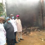 Akeredolu visits INEC office gutted by fire, pledges government's support
