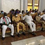 Obaseki, Ize-Iyamu, Oshiomhole, others Attend Peace Meeting At Oba Of Benin's Palace