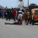 Edo Election: Jubilant Obaseki supporter falls from speeding vehicle
