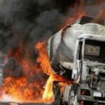 Two vehicles razed as fire guts fuel tanker in Lagos