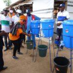 BNSG, WaterAid donate Handwashing stations to clinics and IDP camp