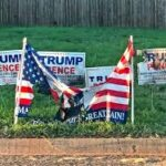 US election: Trump, Biden supporters vandalise campaign signs
