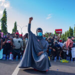 #EndSARS: Aisha Yesufu urges protesters to 'retreat'