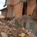 Dozens escape death as building collapses in Jos