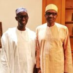 President Buhari greets NuhuRibadu at 60