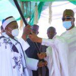Zulum presents staff of office to Emir of Biu