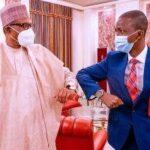 Just in: Buhari meets new EFCC chairman Bawa in Aso Villa