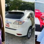 Bobrisky presents Lexus SUV to Dad on birthday