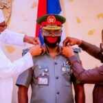 Buhari decorates Chief of Army Staff with new rank