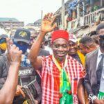 APGA Candidate, Soludo, Storms Bridge-Head Market Onitsha (Photos, Video)